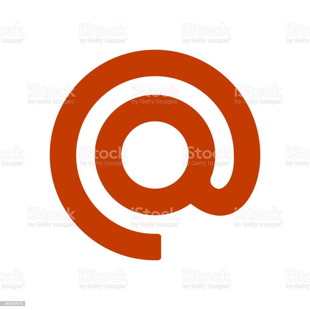 Mail Dog Abstract Symbol in Flat Style. Vector royalty-free stock vector art