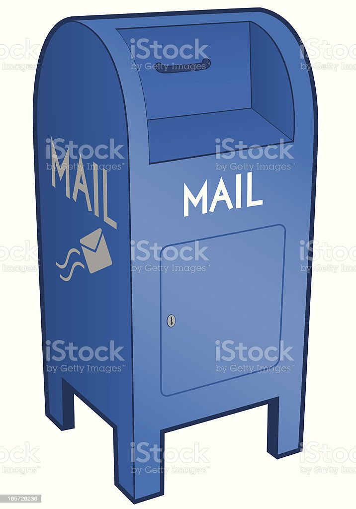 Mail Drop Box vector art illustration