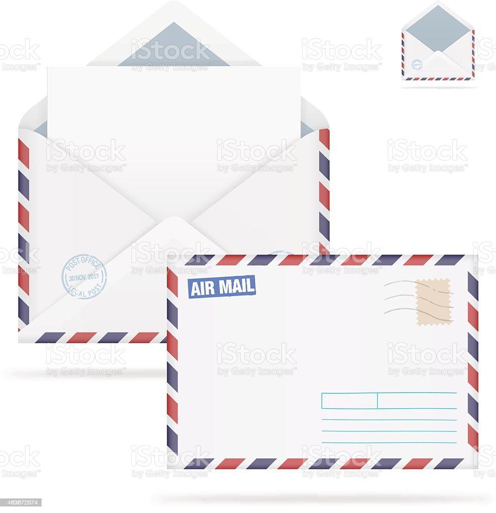 Mail envelope isolated on white background. Vector illustration vector art illustration