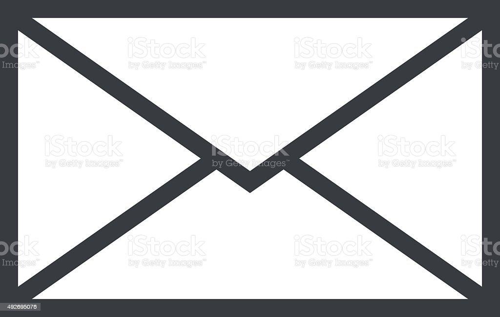 Mail envelope outline icon, modern minimal flat design style vector art illustration