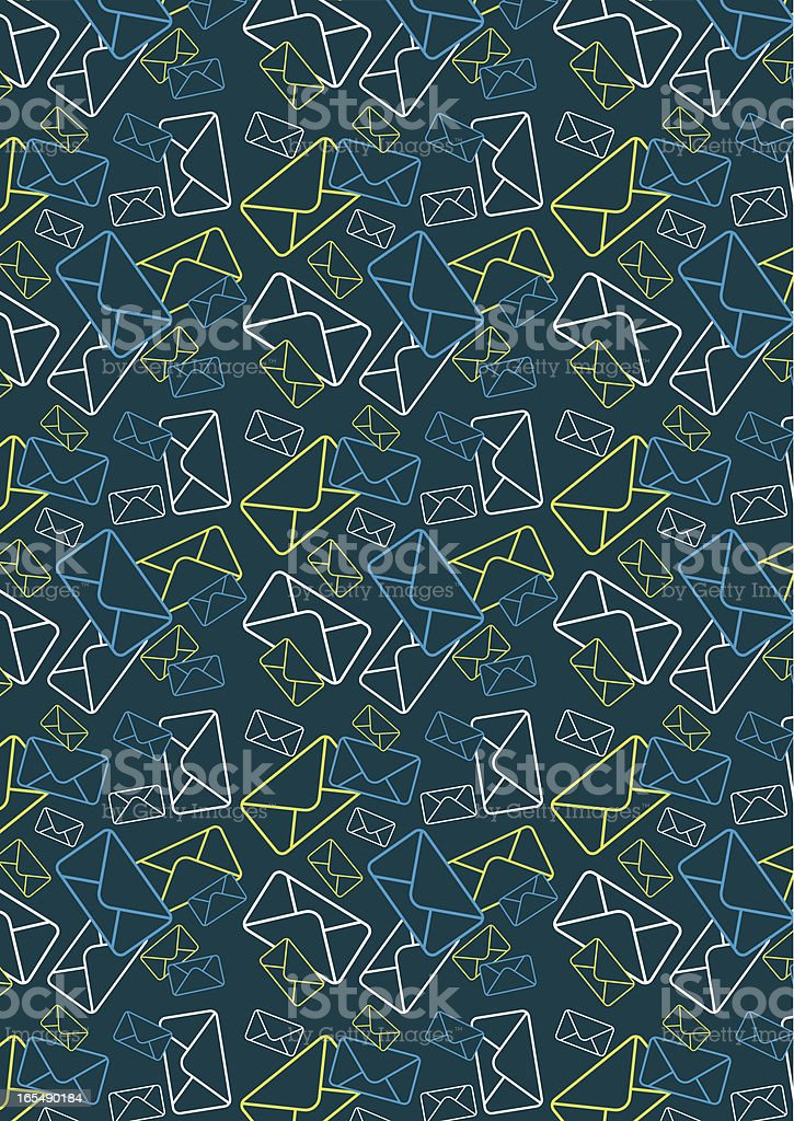Mail Envelope Pattern royalty-free stock vector art