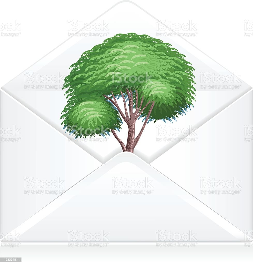 Mail go Green royalty-free stock vector art
