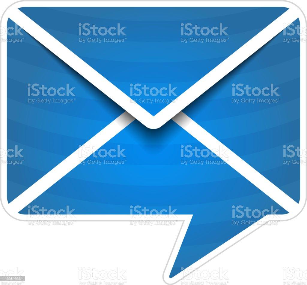 Mail Icon vector art illustration