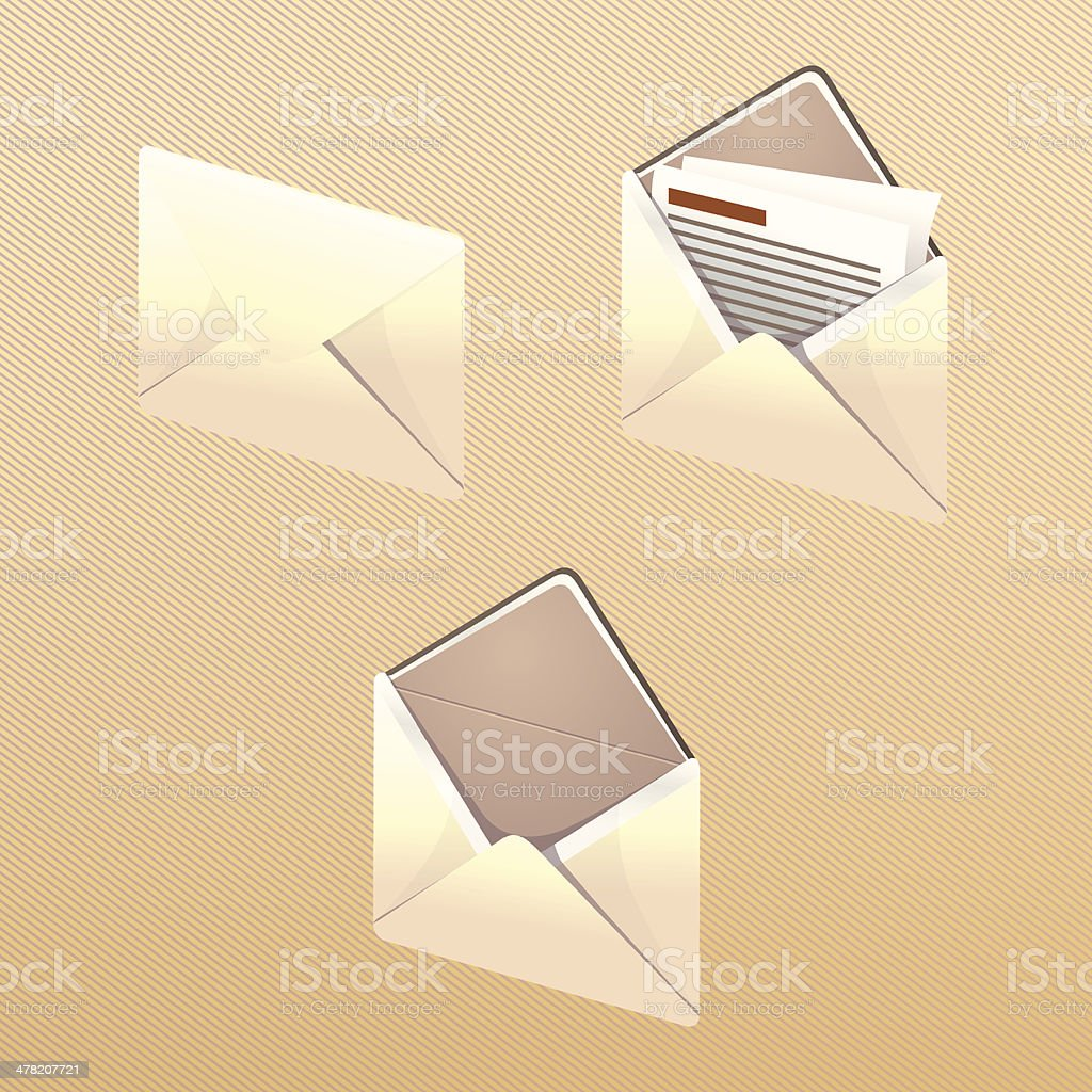 Mail icon royalty-free stock vector art