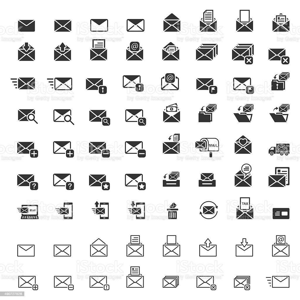 Mail icons, Vector EPS10. vector art illustration