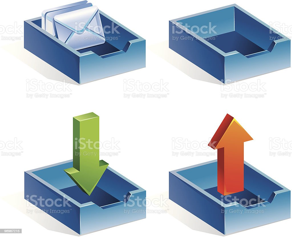 mail icons royalty-free stock vector art