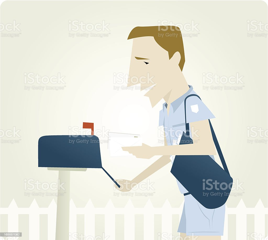 Mail Man Delivery royalty-free stock vector art