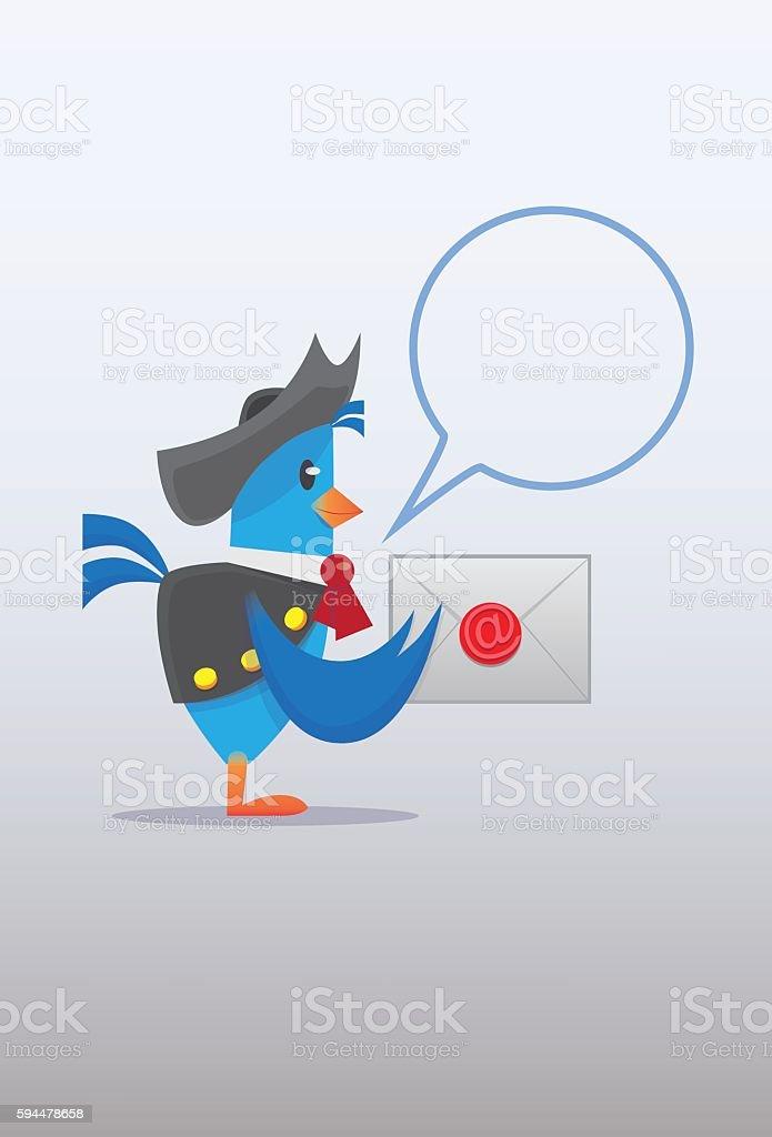 Mail Pigeon vector art illustration