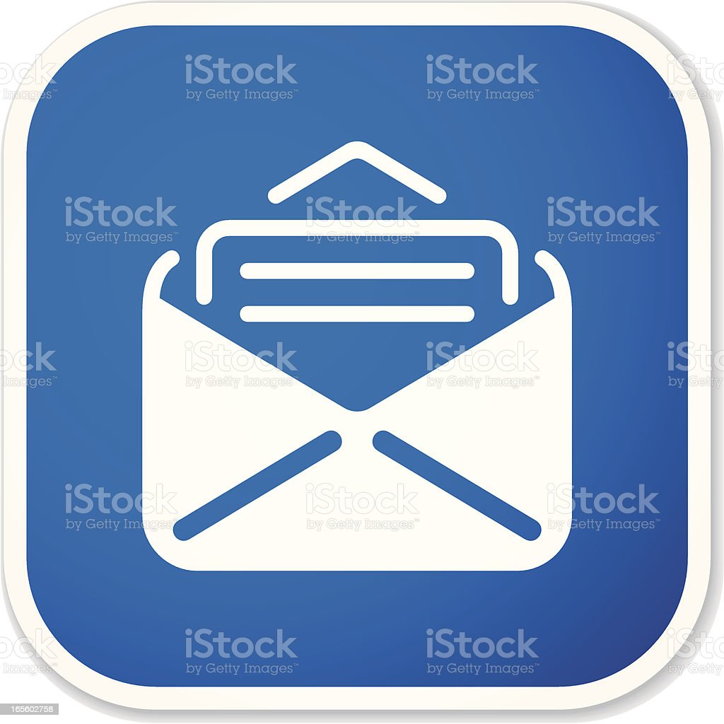 mail SQ sticker royalty-free stock vector art