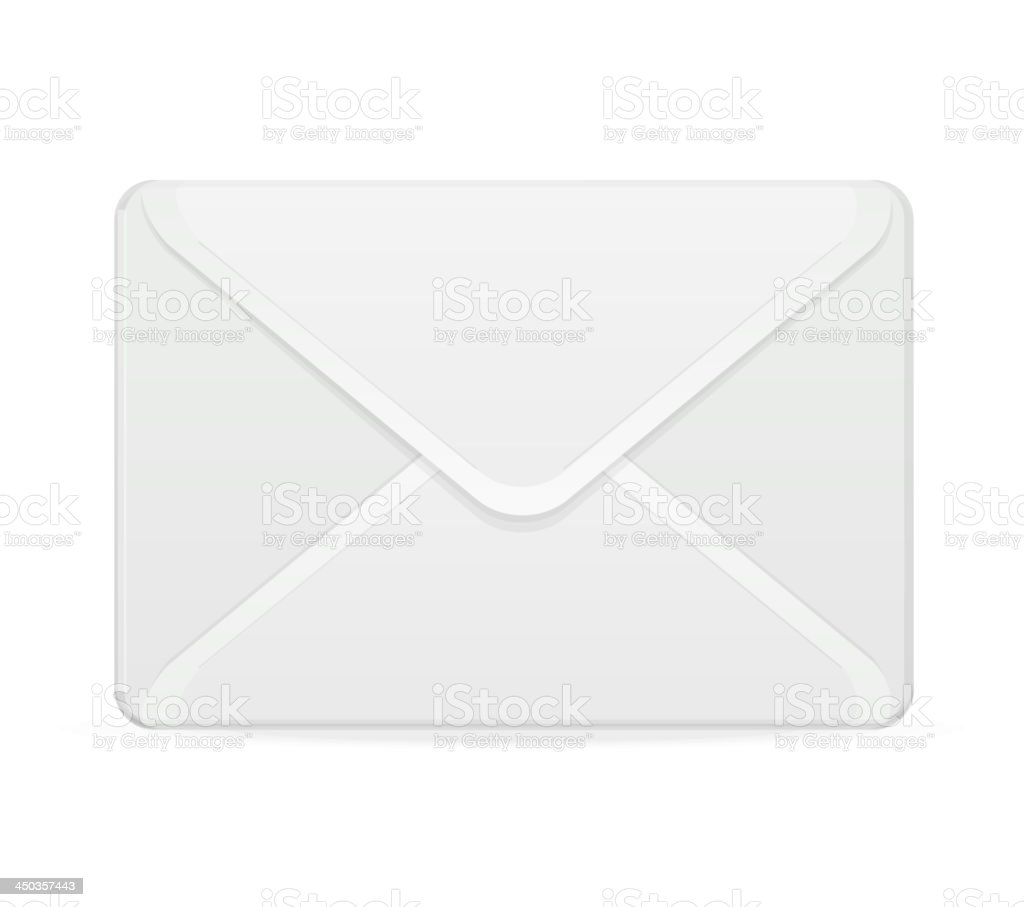 Mail template white royalty-free stock vector art