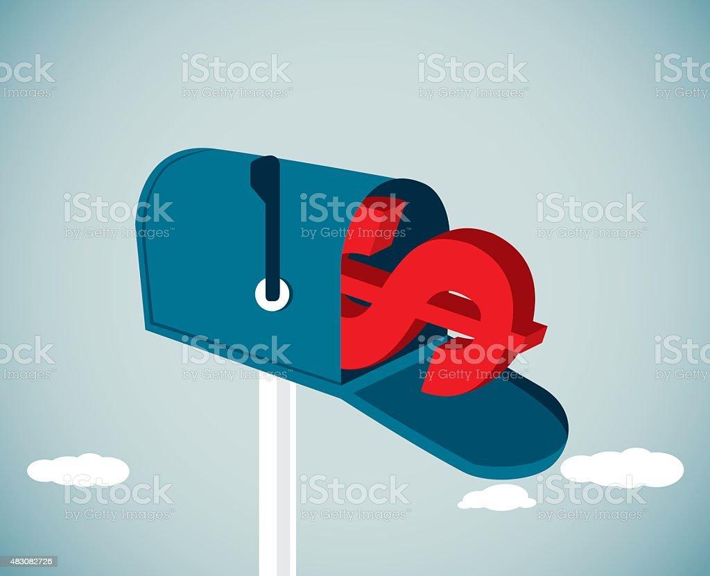 Mail vector art illustration