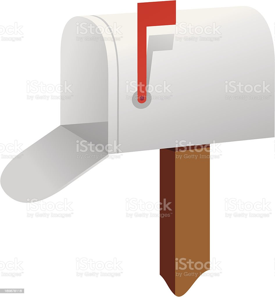 Mailbox and Flag royalty-free stock vector art