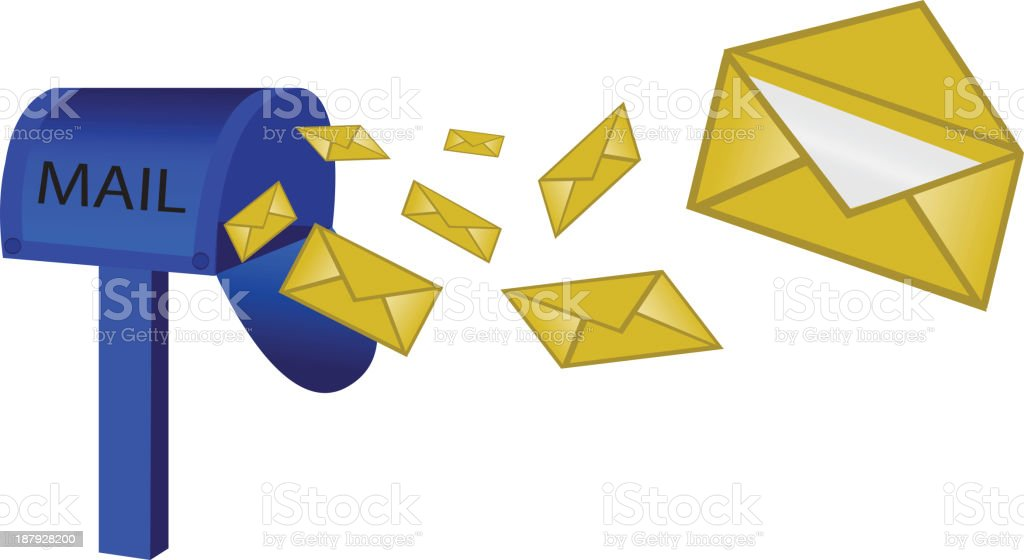 mailbox and letter royalty-free stock vector art