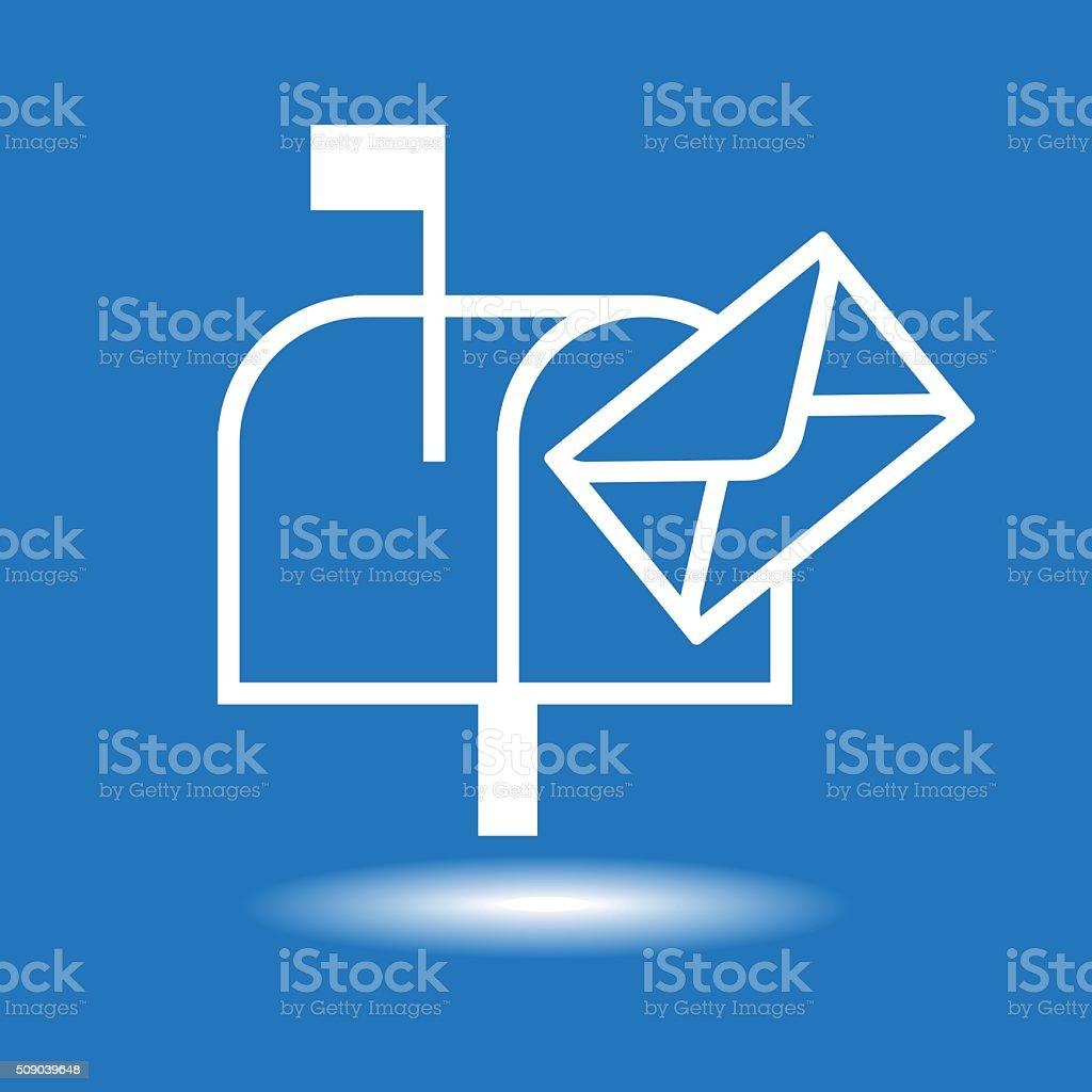 Mailbox icon vector art illustration