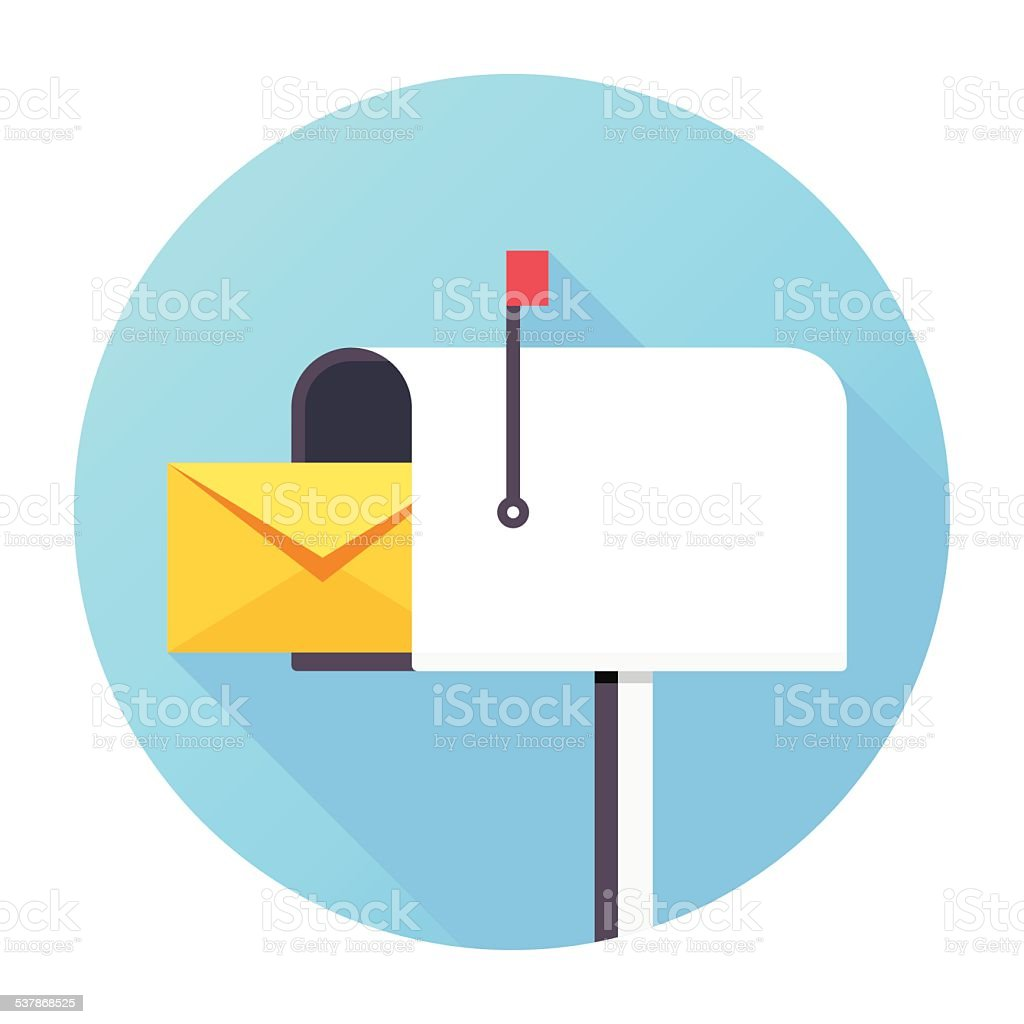 Mailbox Icon vector art illustration