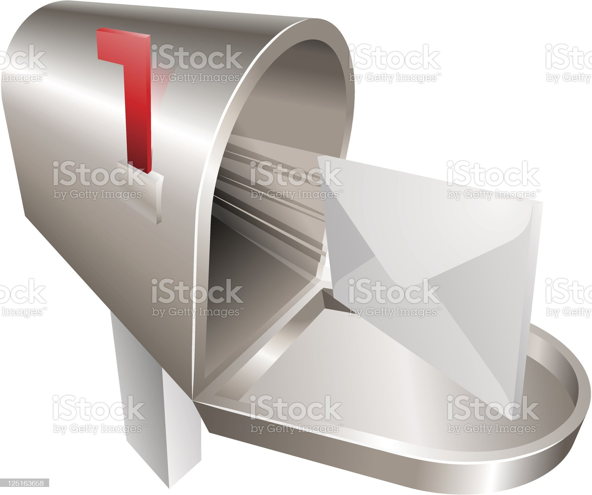 Mailbox illustration concept royalty-free stock vector art