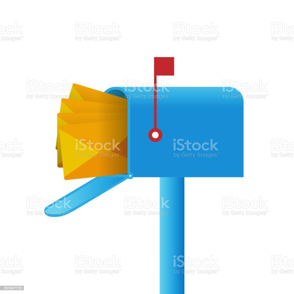 Mailbox vector art illustration