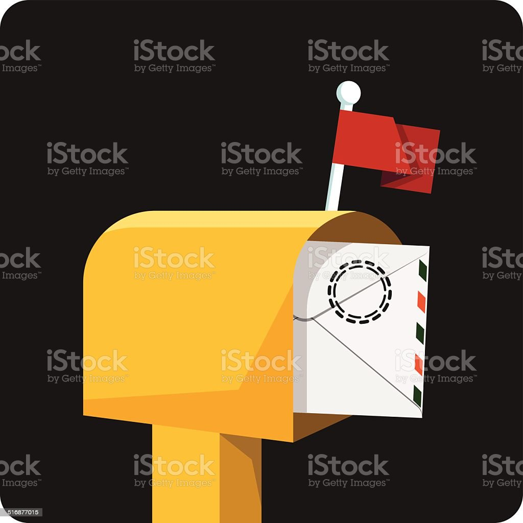Mailbox with Mail vector art illustration