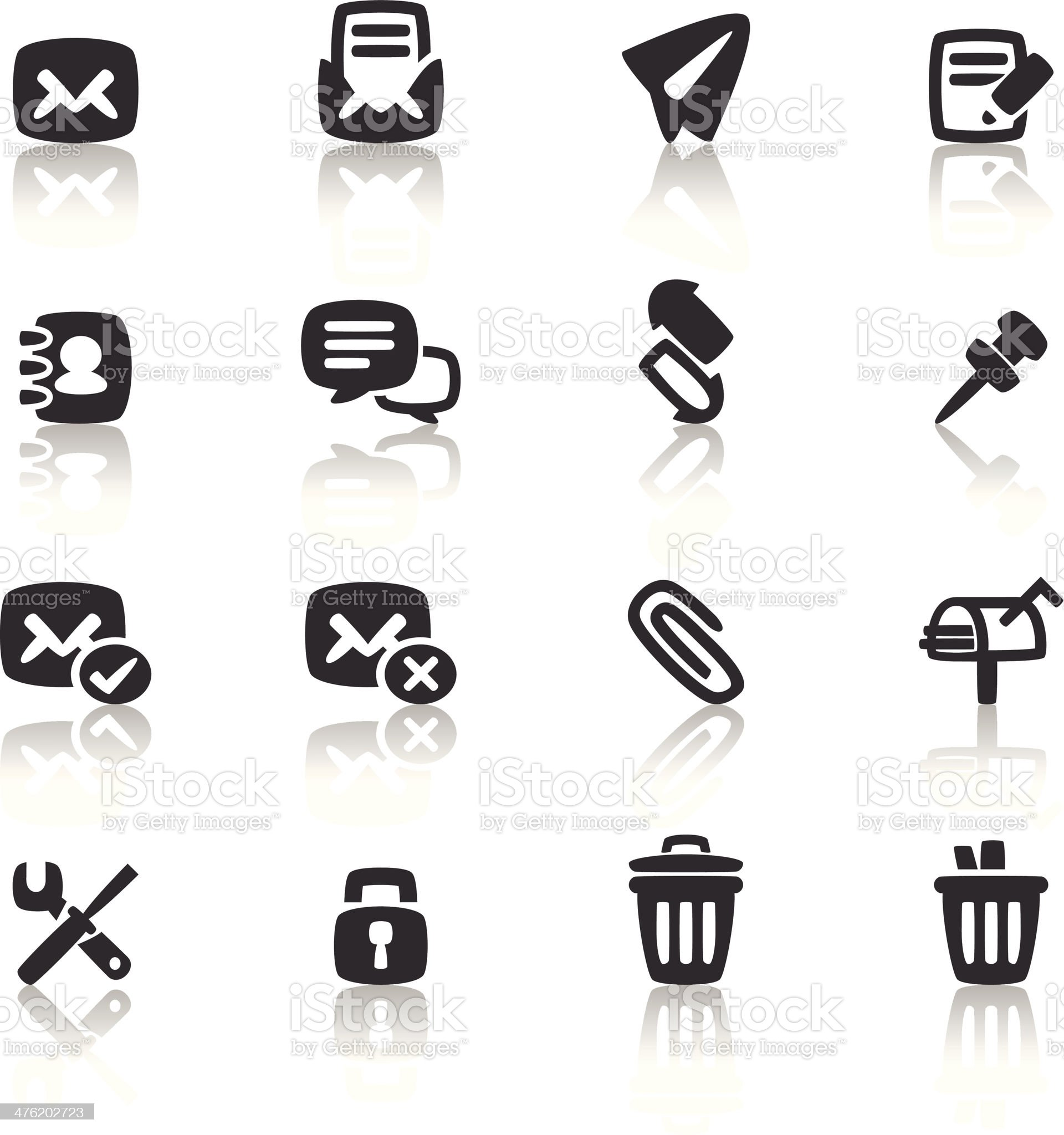 Mailing Icon royalty-free stock vector art