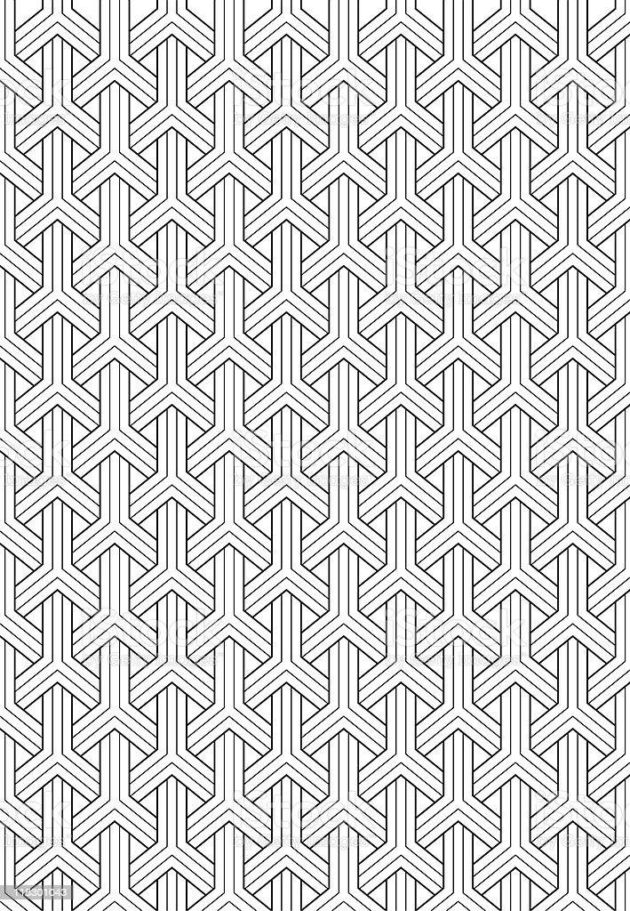 Maille noir et blanc vector art illustration