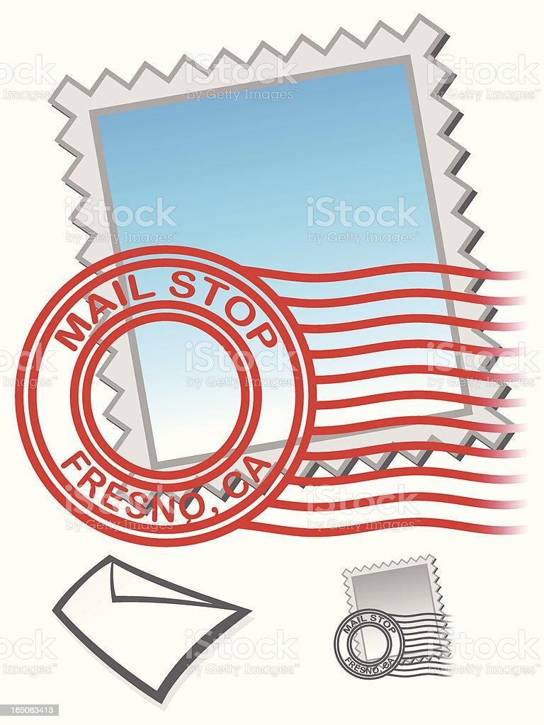 mailletter_stamp vector art illustration