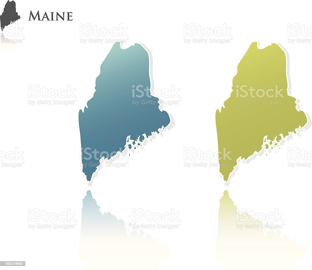 Maine State Graphic royalty-free stock vector art