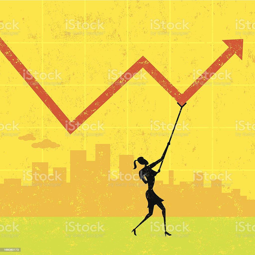 Maintaining Profits royalty-free stock vector art