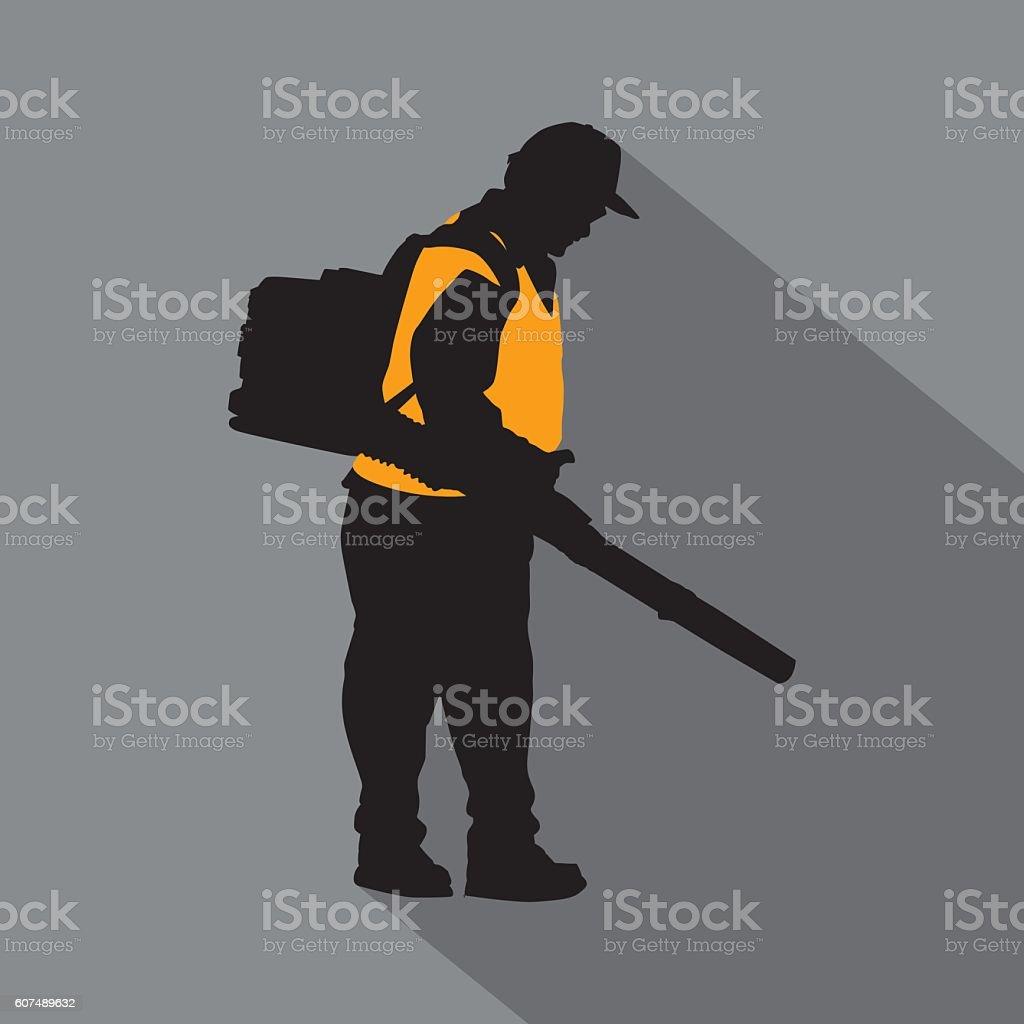 Maintenance Man Icon vector art illustration