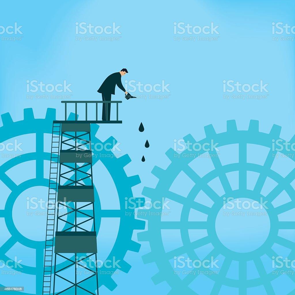 Maintenance vector art illustration