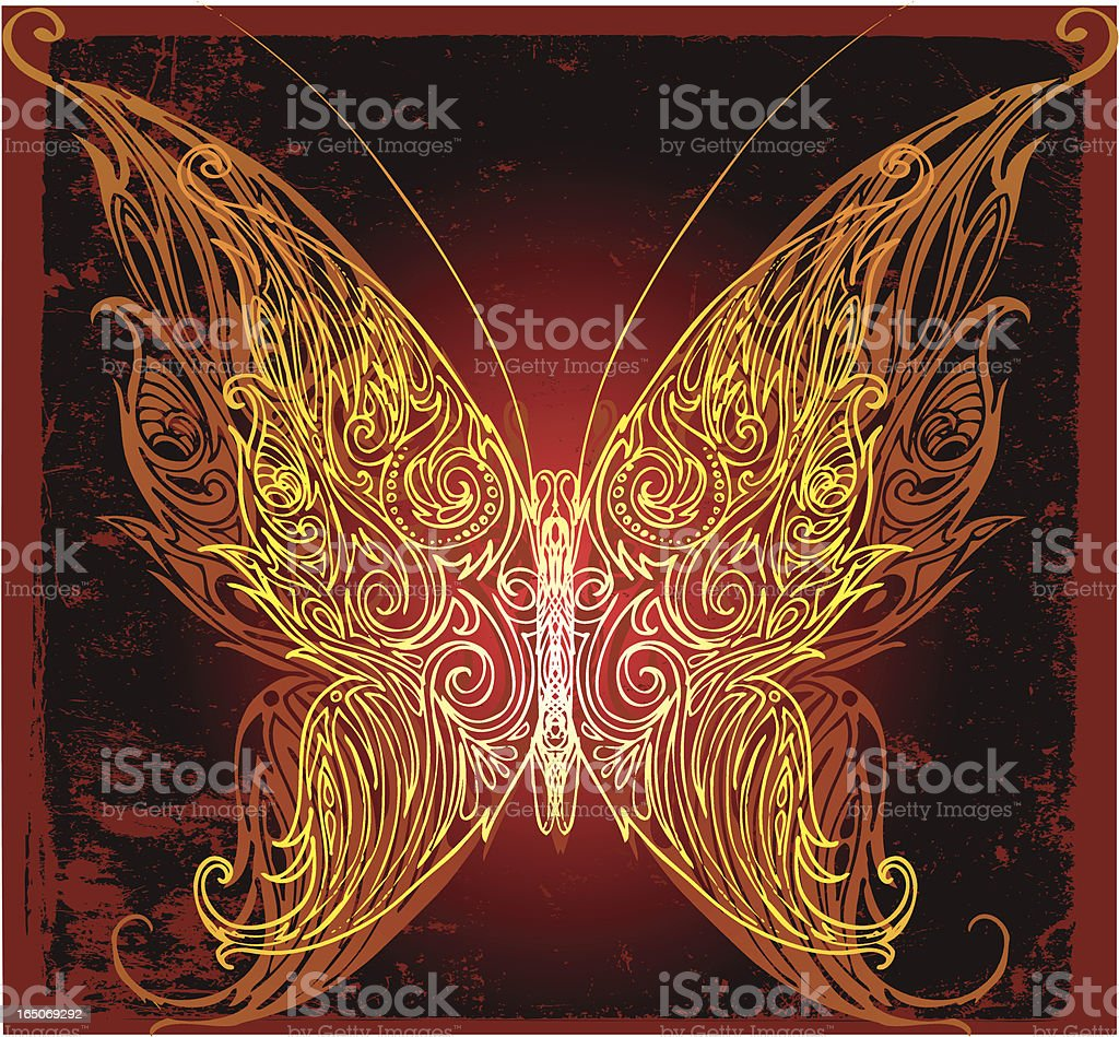 majestic butterfly royalty-free stock vector art