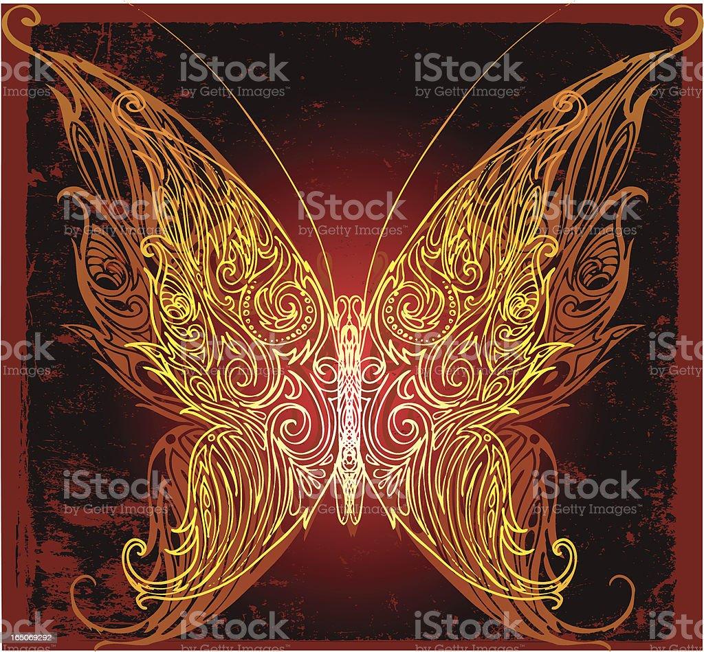 majestätische Schmetterling Lizenzfreies vektor illustration