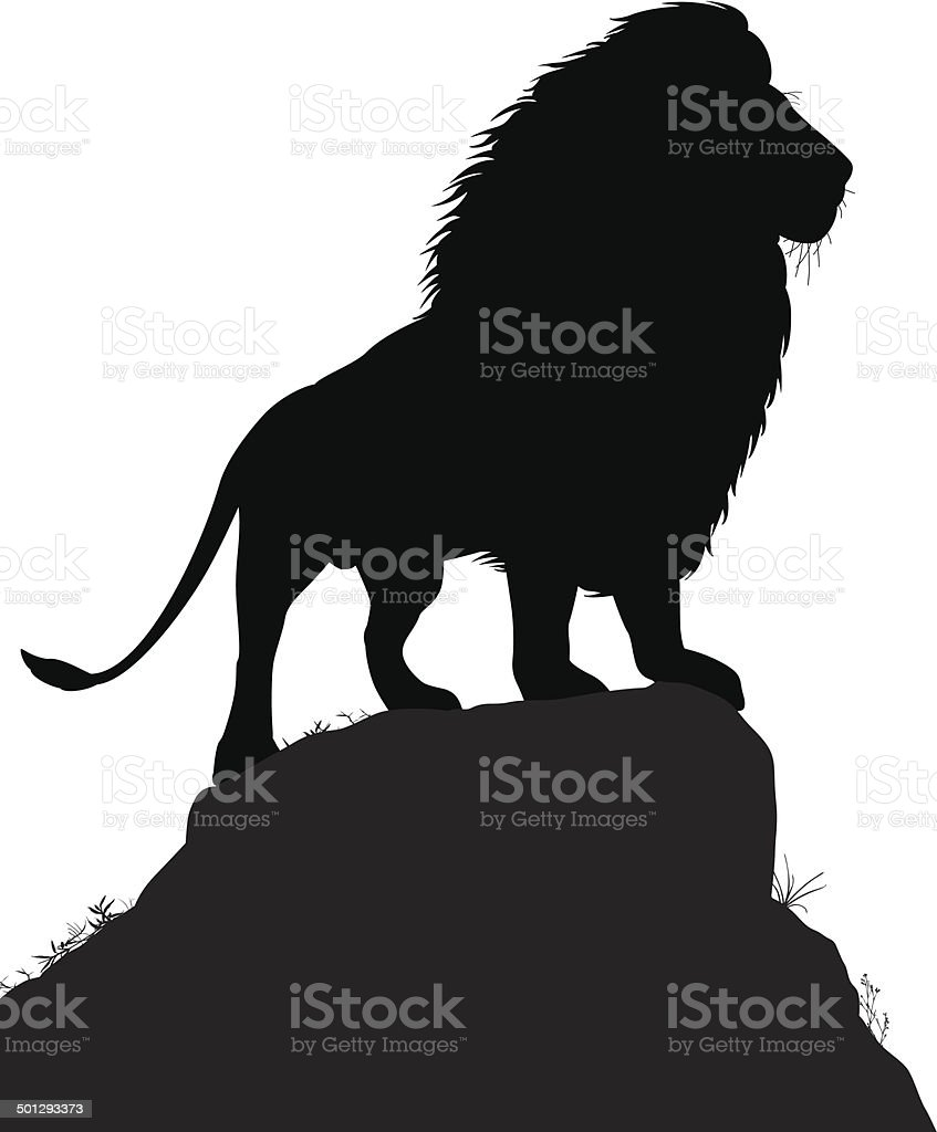 Majestic lion vector art illustration