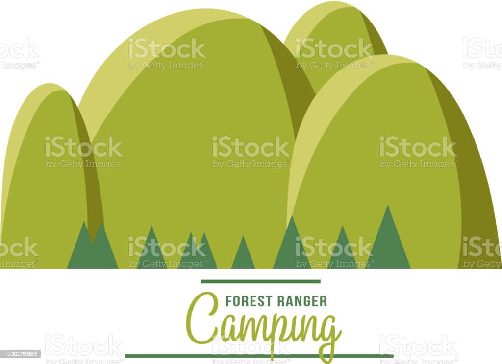 Majestic mountain peak vector illustration vector art illustration