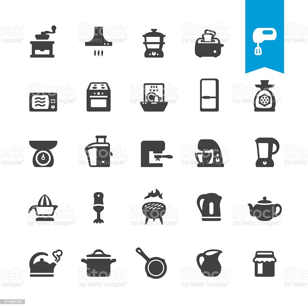 Major Kitchen Appliance vector icons vector art illustration