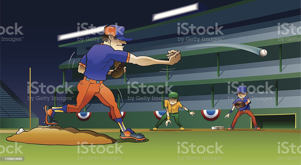 Major Leagues vector art illustration