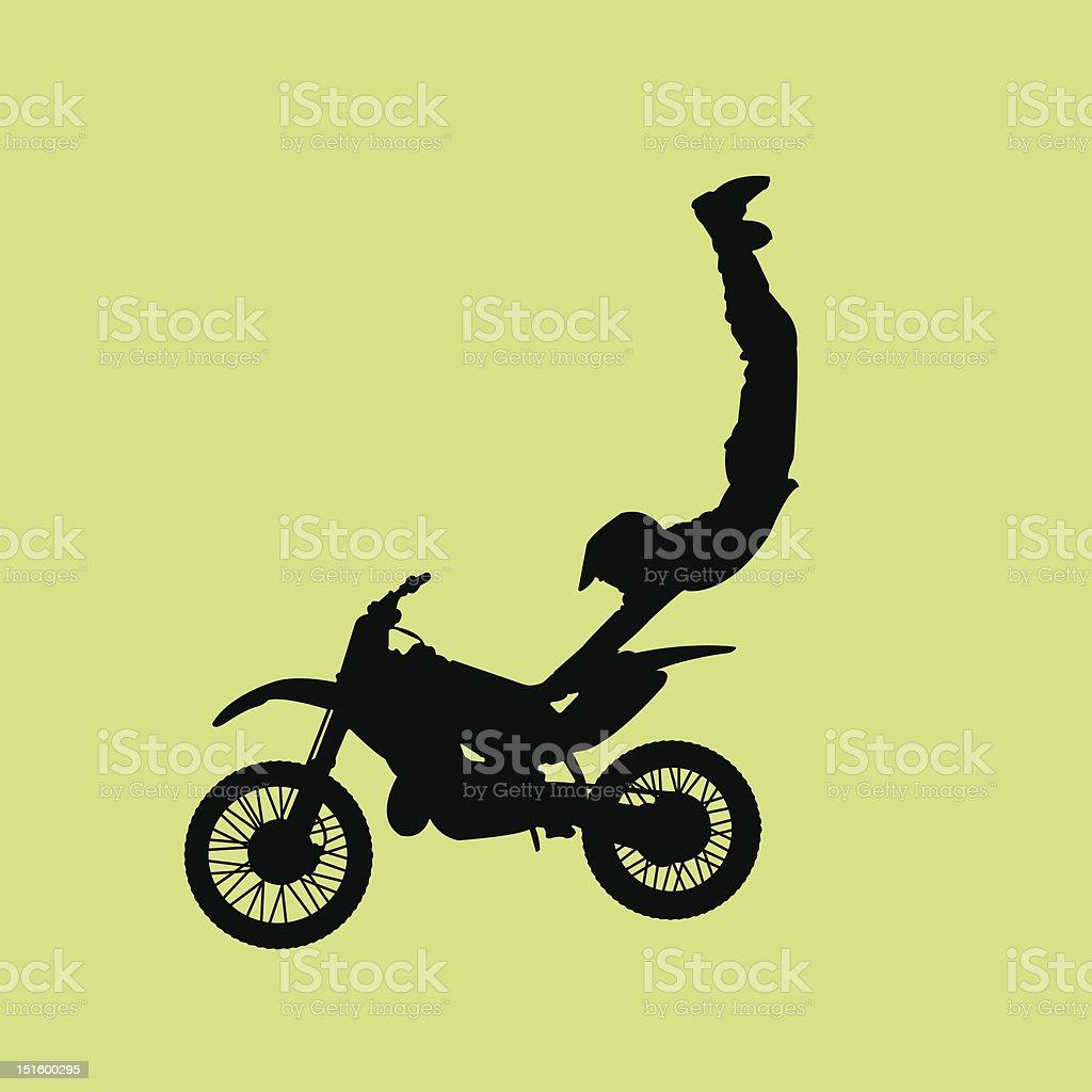Major Motorcross Air royalty-free stock vector art