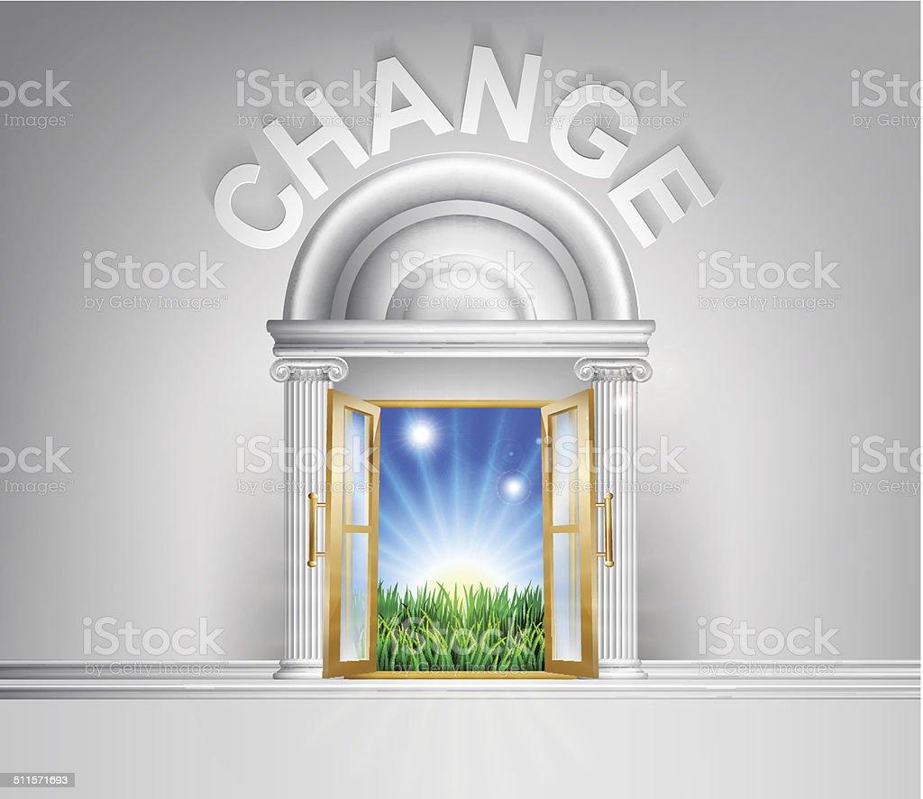Make a change concept vector art illustration