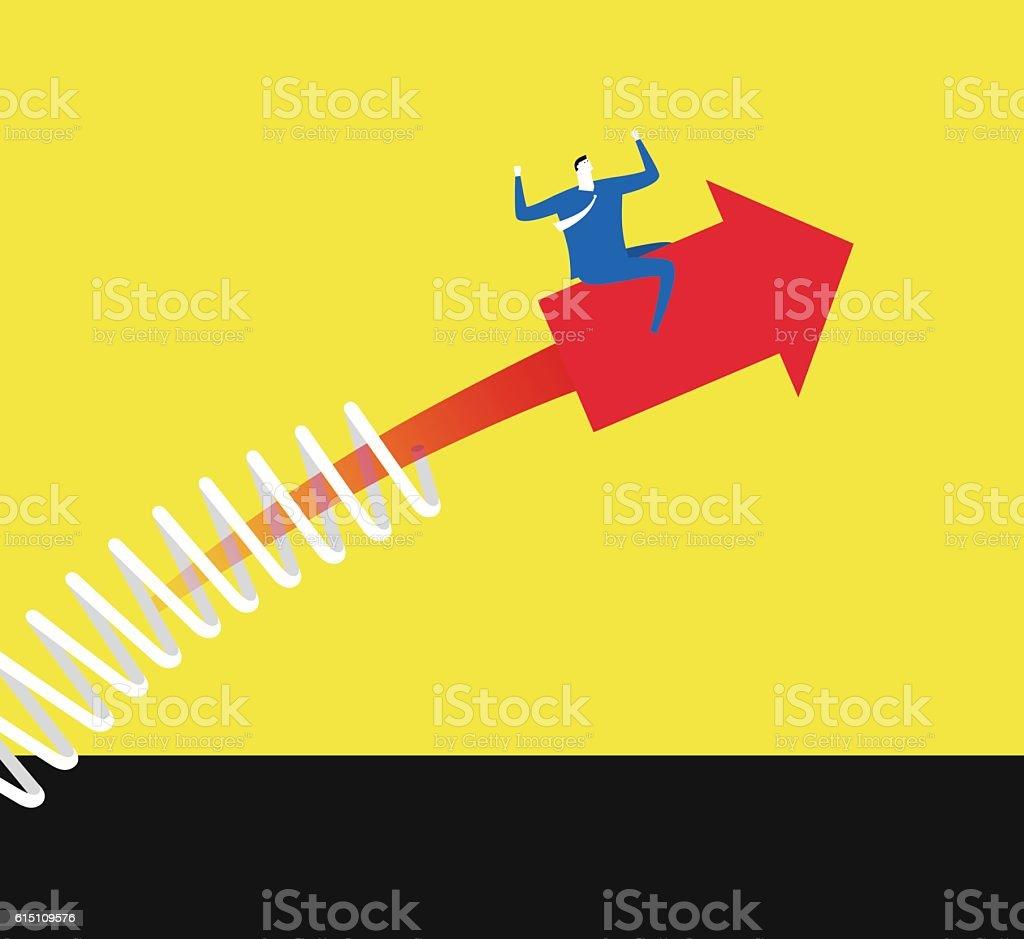 Make an arrow upward vector art illustration