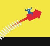 Make an arrow upward