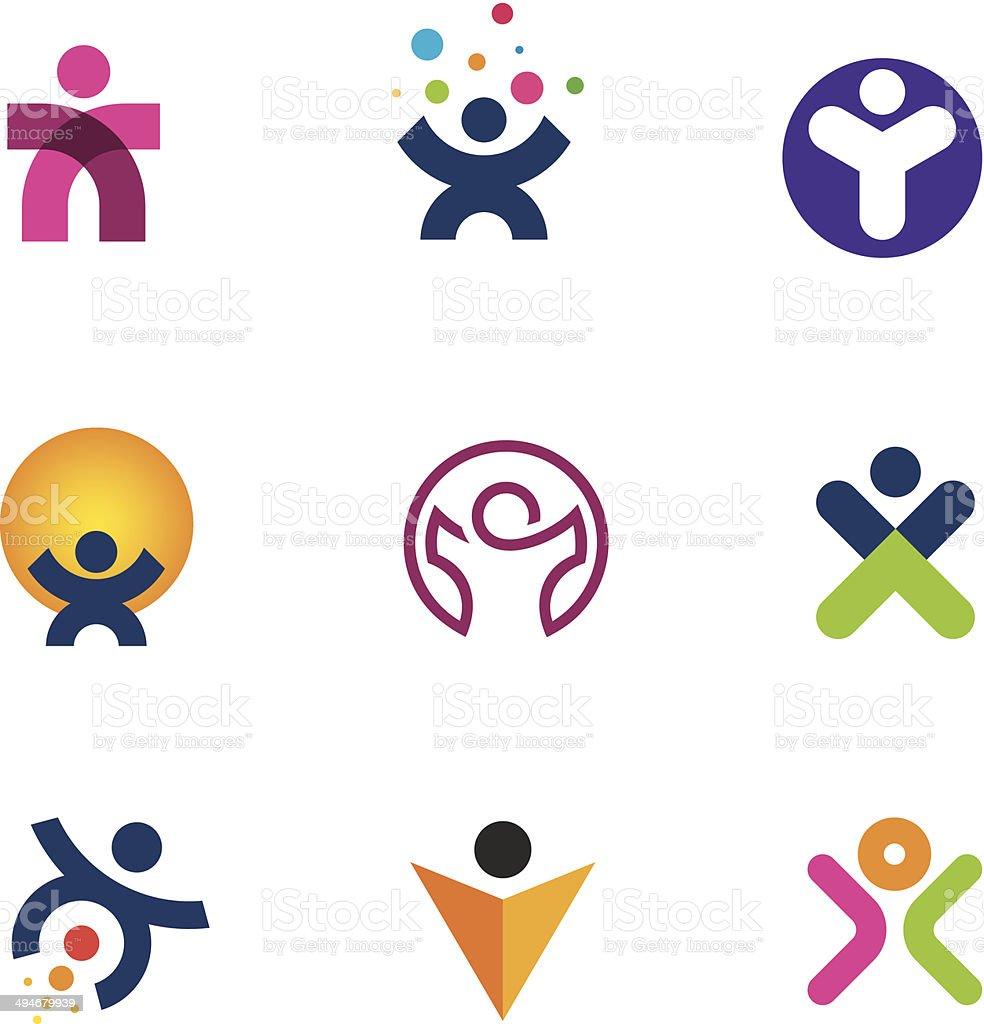 Make impact creating innovation fulfillment of human potential icon vector art illustration