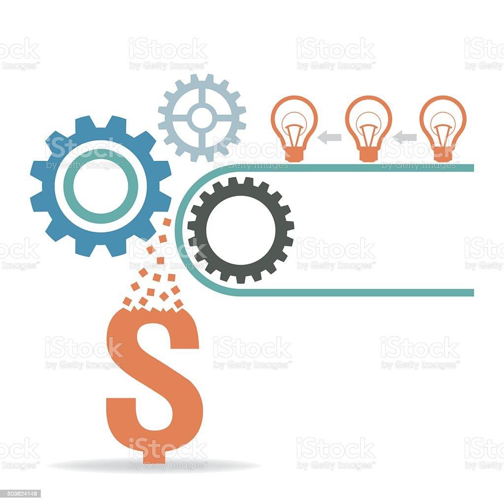 make money concept vector art illustration