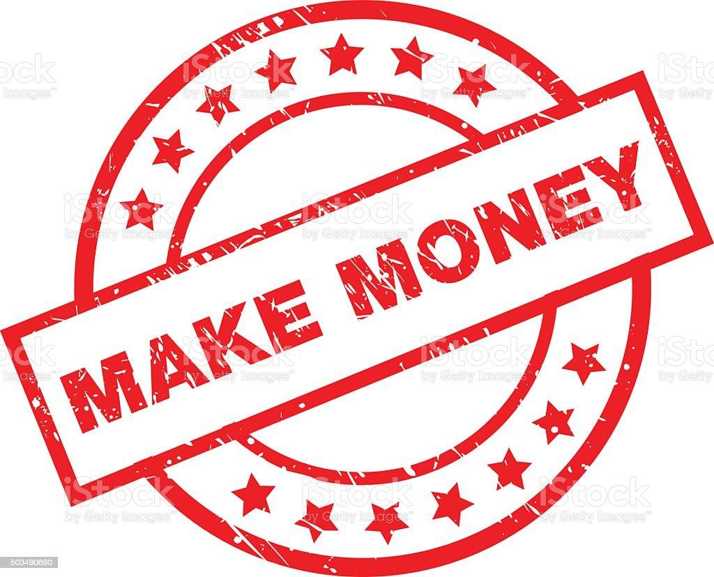 make money stamp vector art illustration