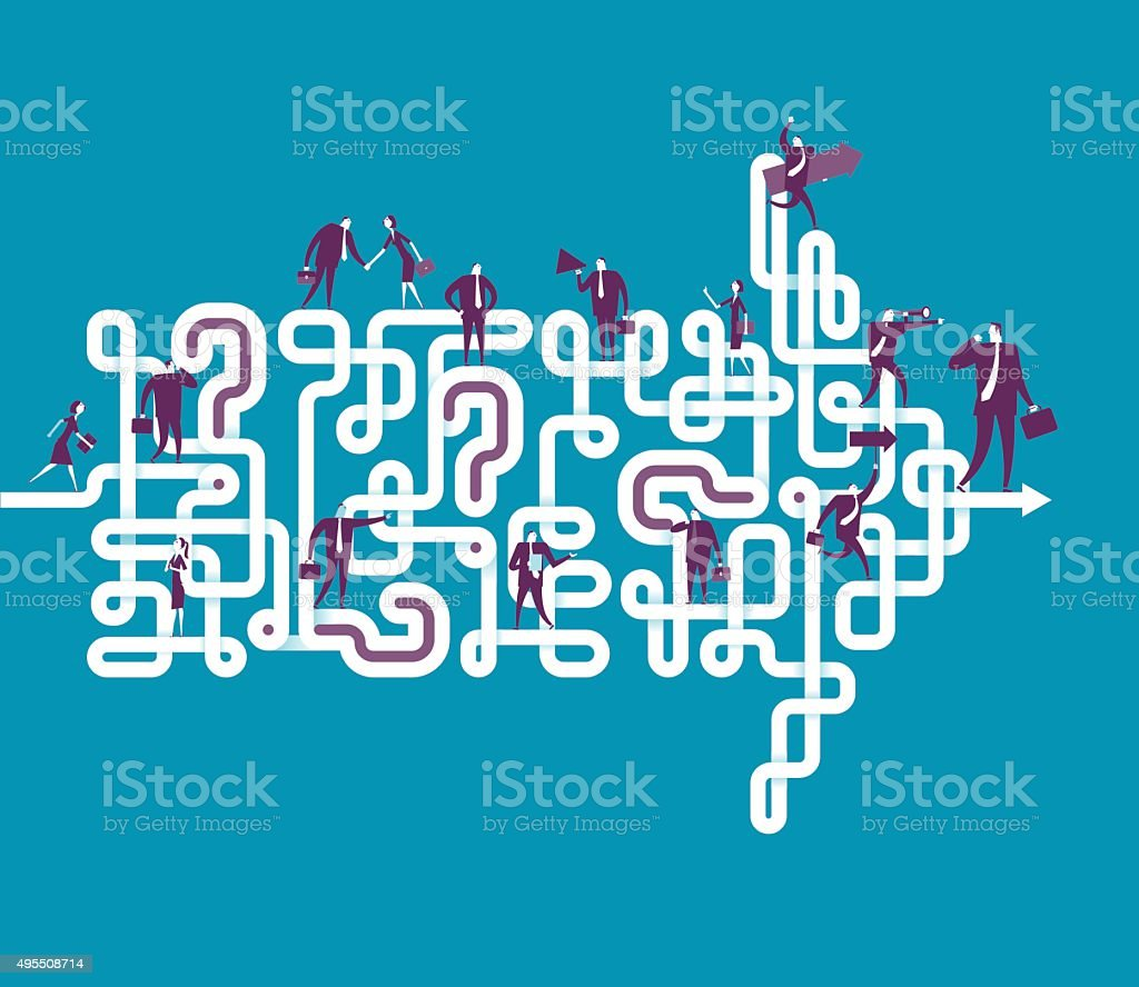 Make problem becom direction vector art illustration