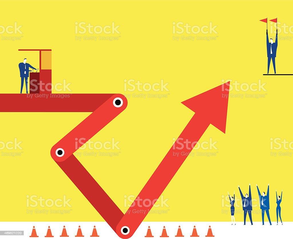 Make the arrow up vector art illustration