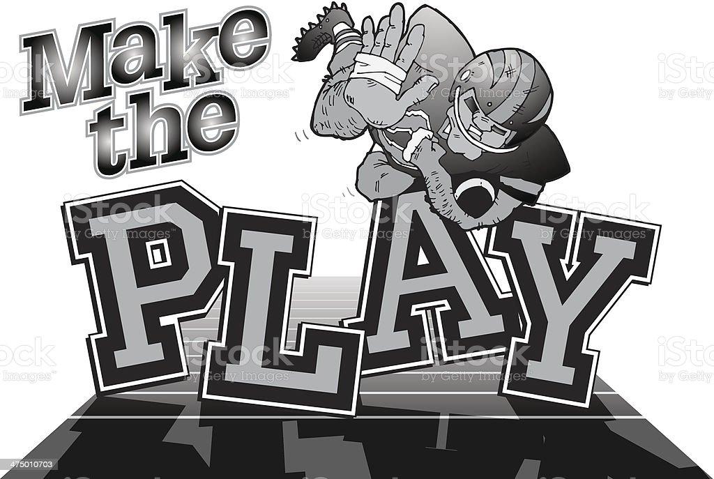 Make The Play Heading royalty-free stock vector art