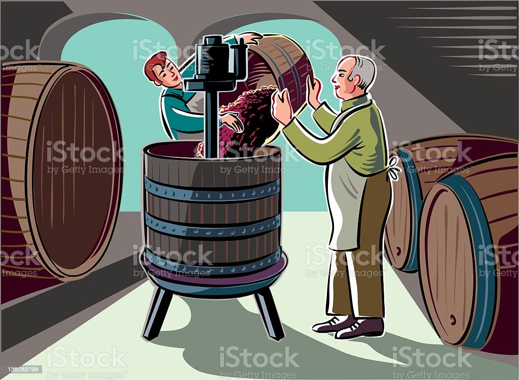 make the wine royalty-free stock vector art