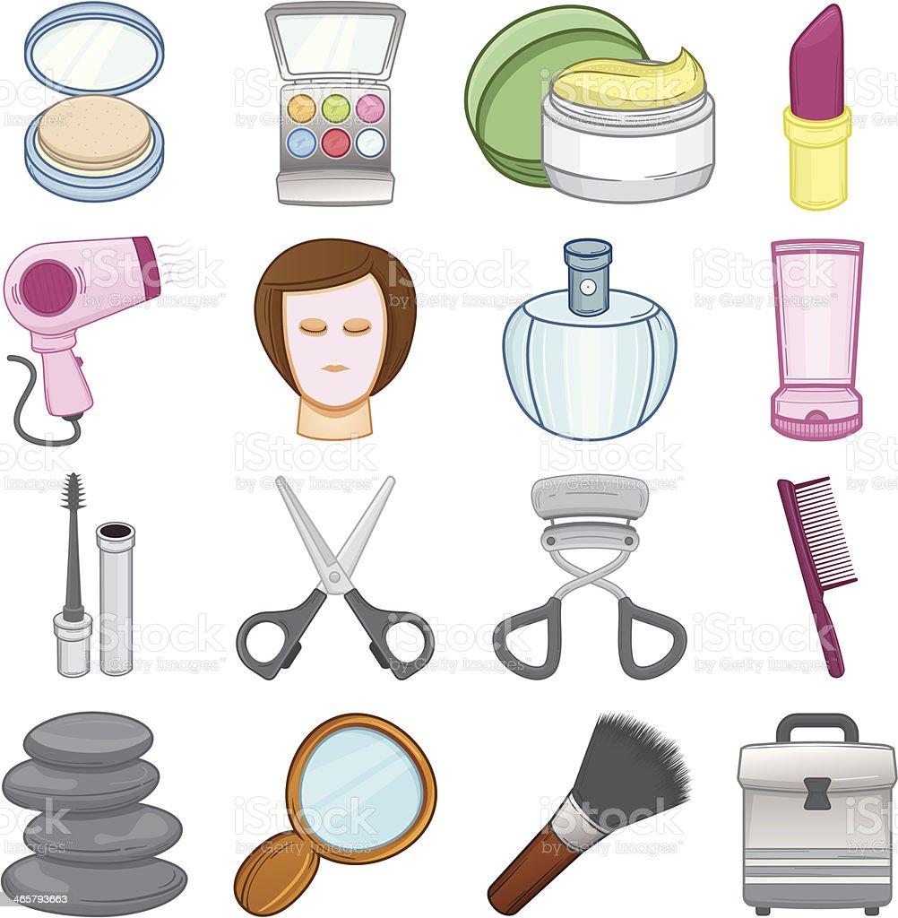 Make up & beauty Icons - Illustration royalty-free stock vector art