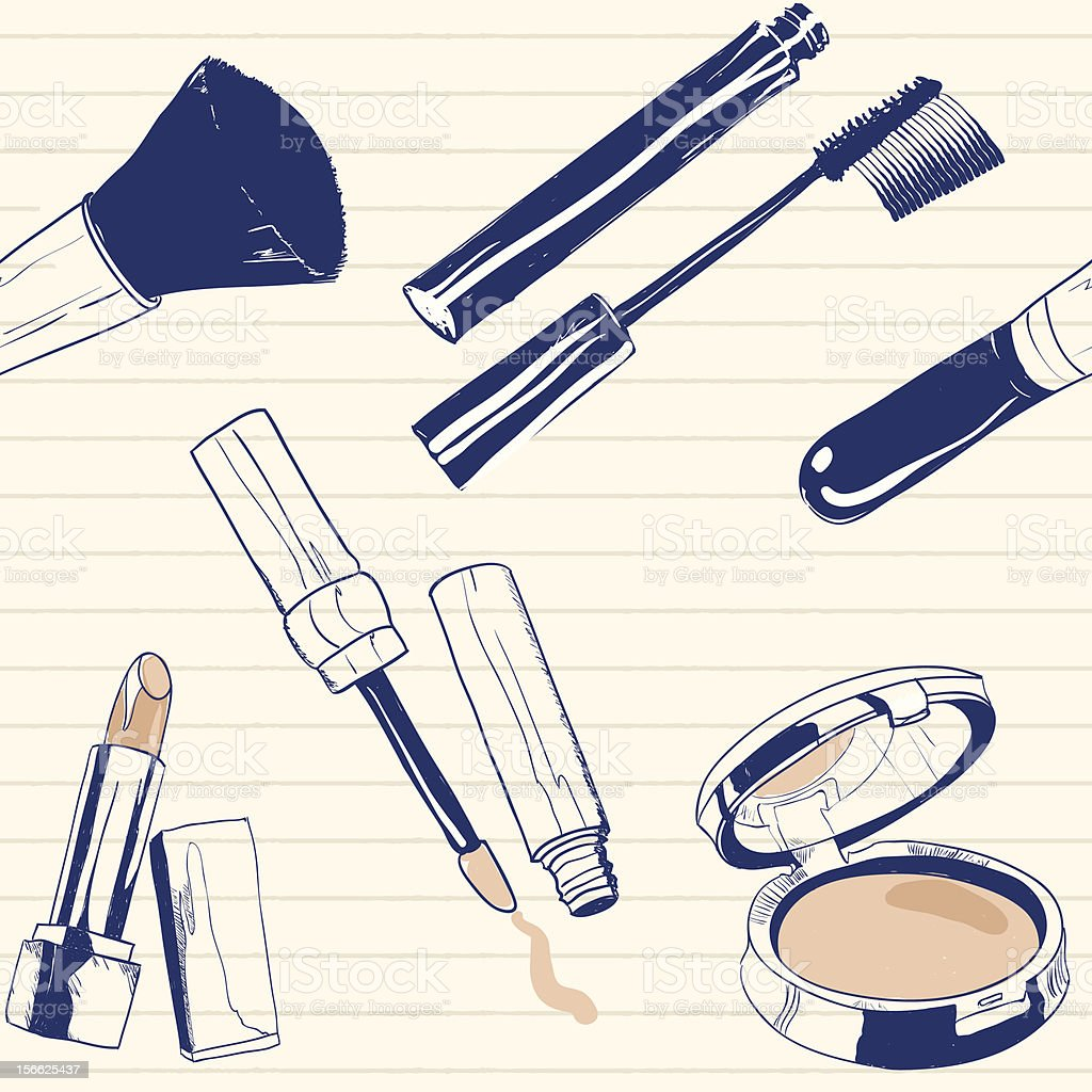 Make up doodles royalty-free stock vector art