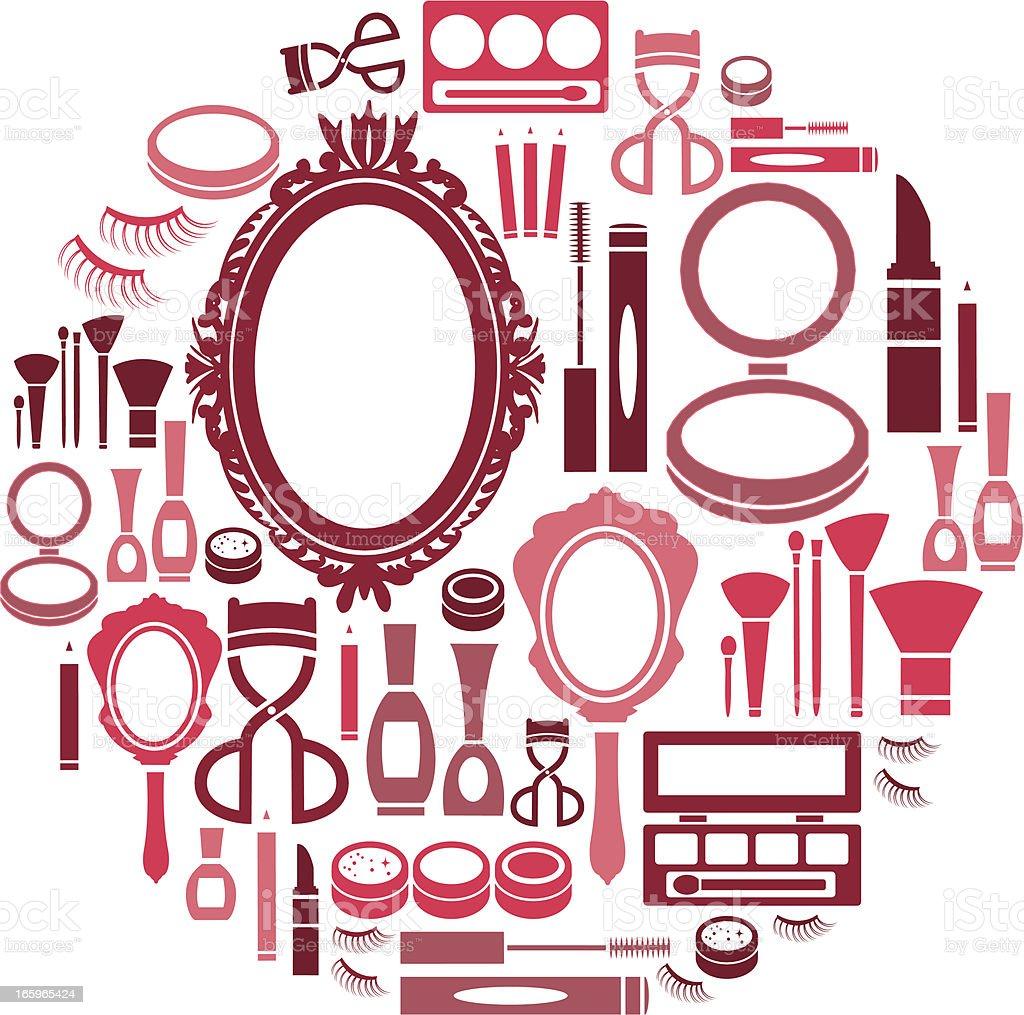 Make Up Icon Set vector art illustration