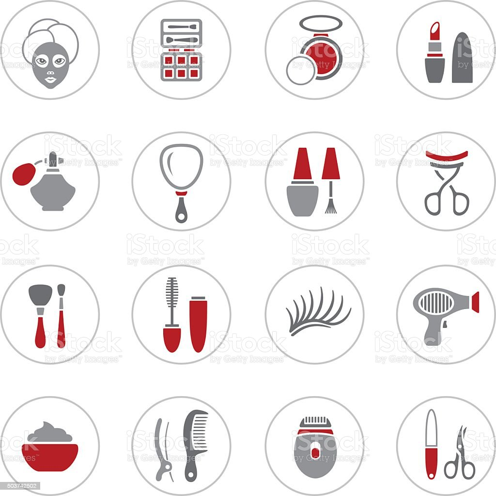 Make Up Icons vector art illustration